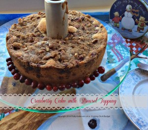 Cranberry Cake with Streusel Topping