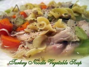 Turkey Noodle Veggie Soup