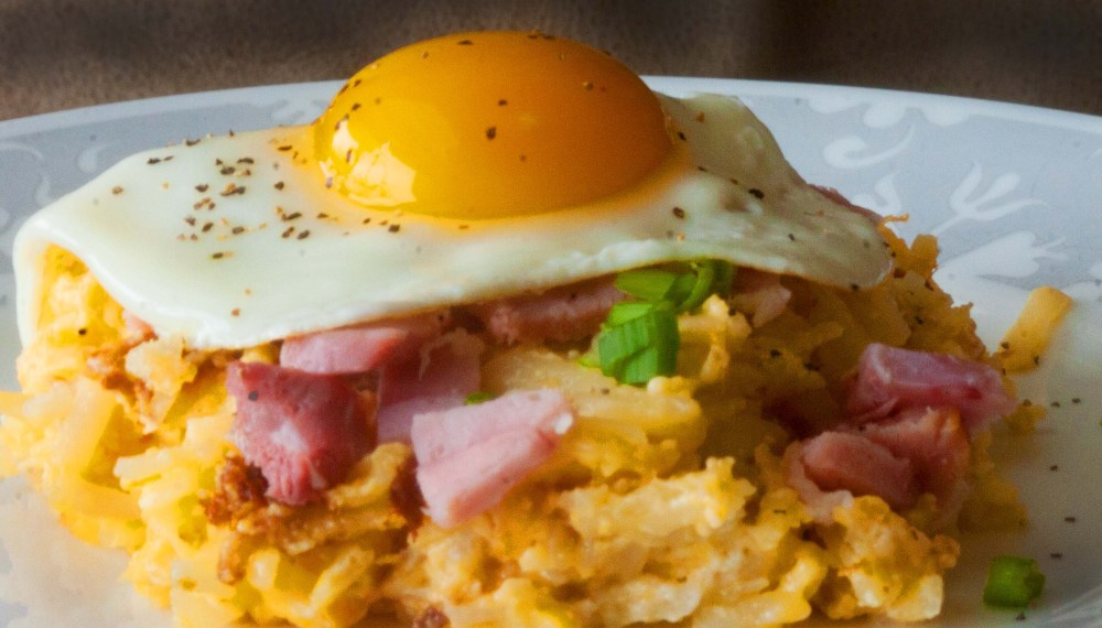 Hash Brown Casserole, Ham & Eggs by Who Needs a Cape?