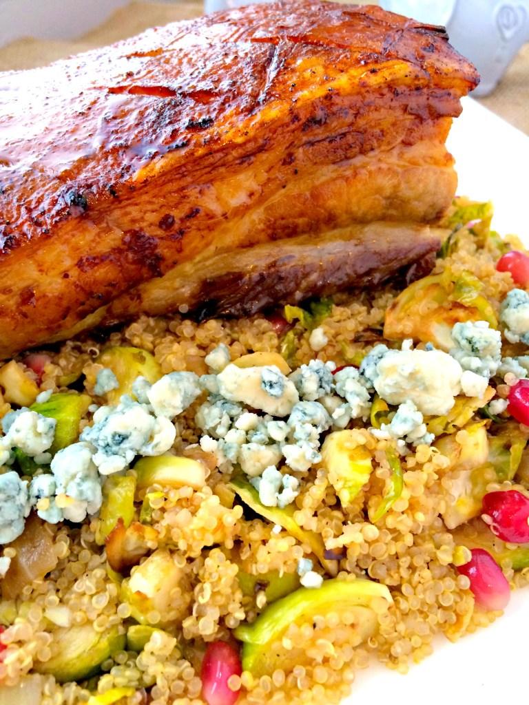 Pomegranate-Honey Glazed Pork Belly ~ The Complete Savorist