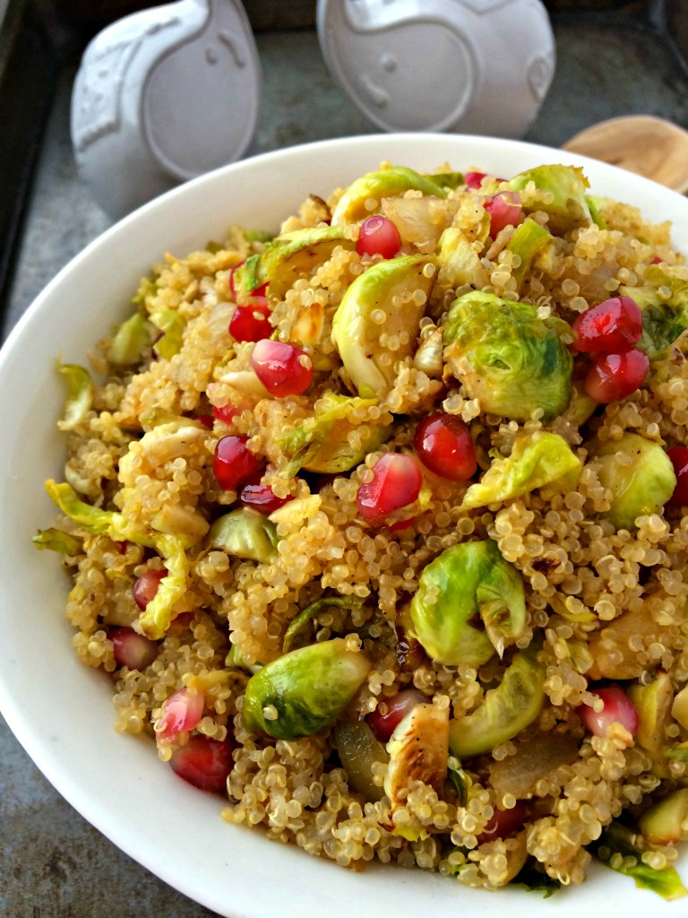 Quinoa with Pomegranate and Brussels Spouts ~ The Complete Savorist