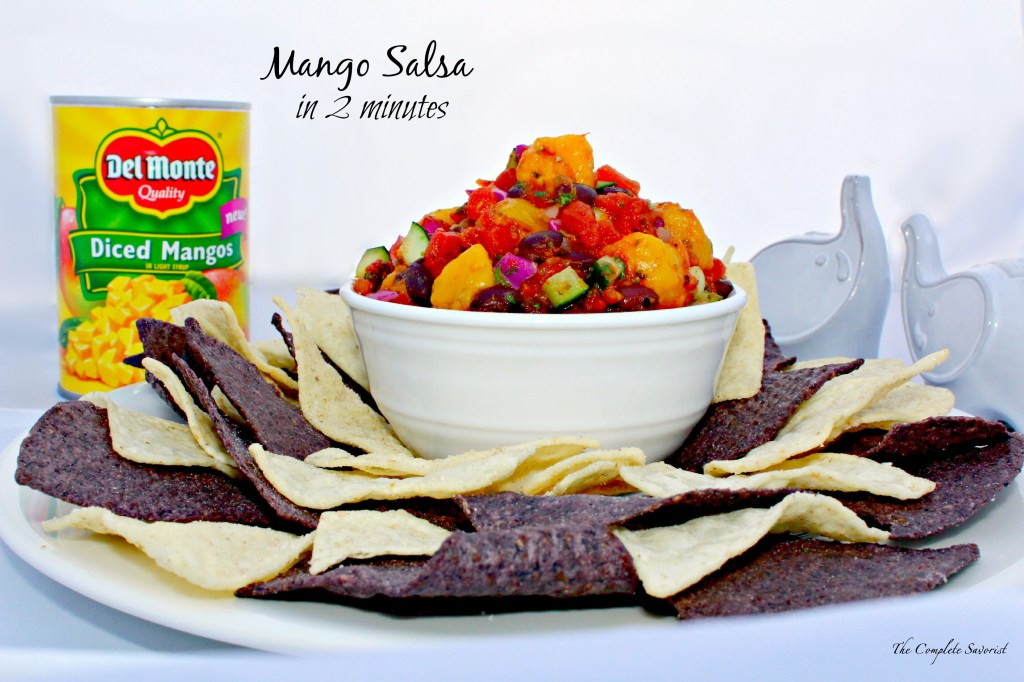 Quick Mango Salsa ~ The Complete Savorist #makemangosalsa #PMedia #ad