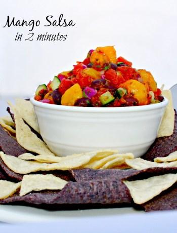 Quick Mango Salsa is ready to serve