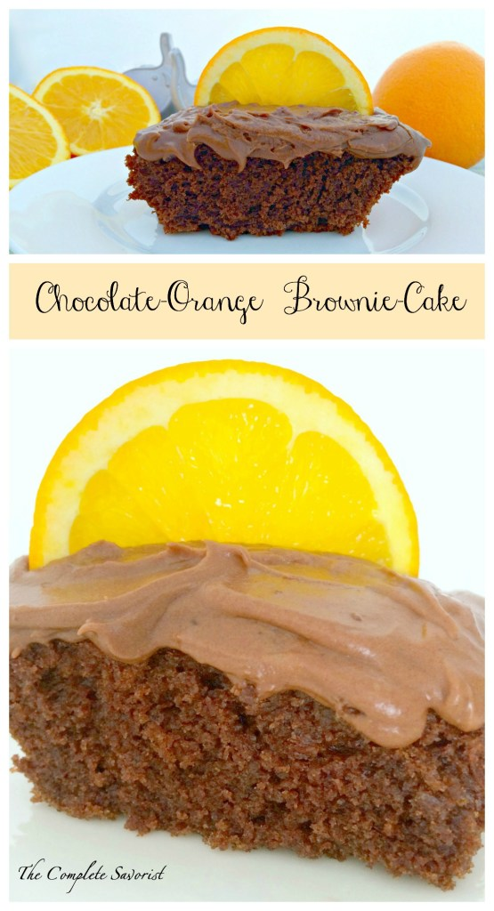 Chocolate Orange Brownie Cake ~ The Complete Savorist