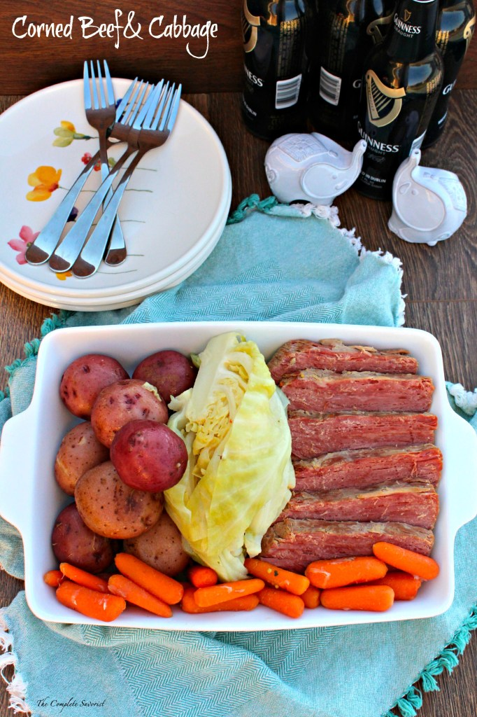 Corned Beef and Cabbage ~ the quintessential and iconic St. Patrick's Day dish of corned beef, cabbage, carrots, and potatoes ~ The Complete Savorist