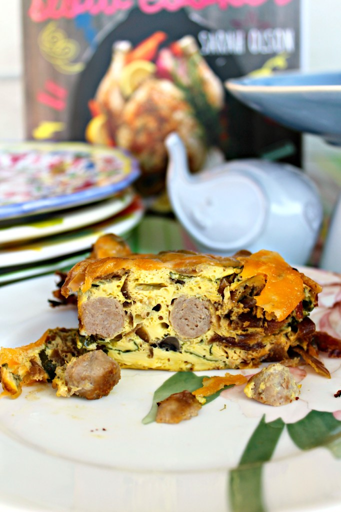 Slice of Sausage and Mushroom Frittata ~ The Complete Savorist