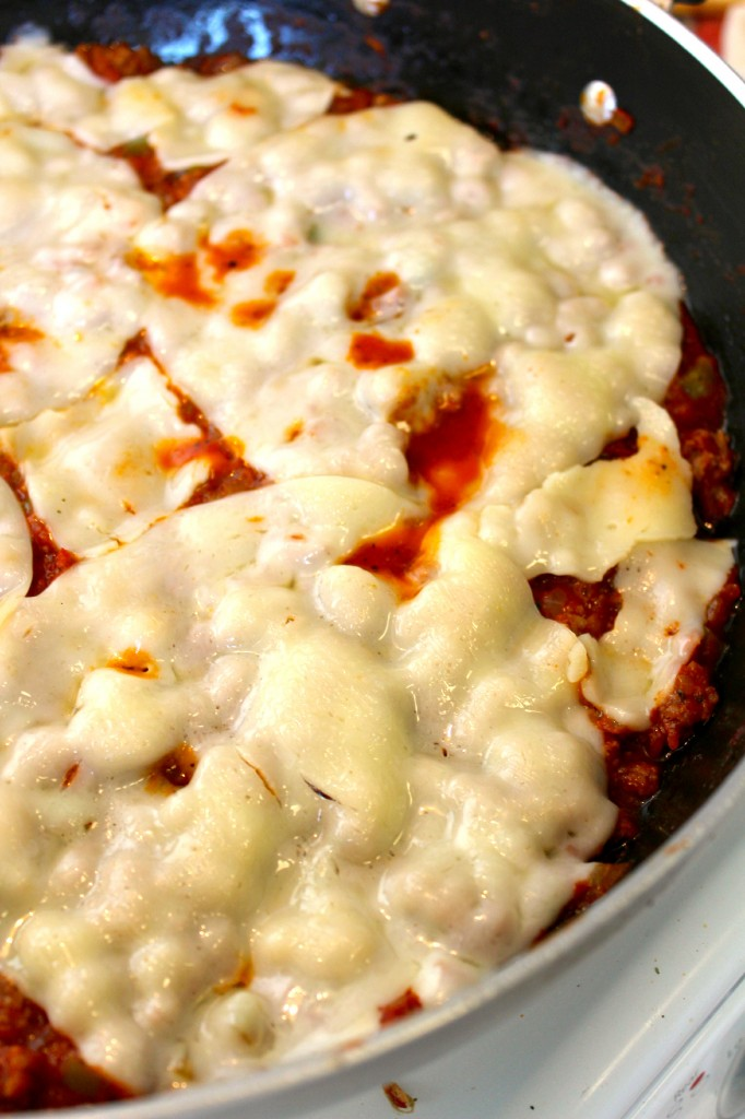 Melted Provolone Cheese for Italian Sloppy Joes ~ The Complete Savorist