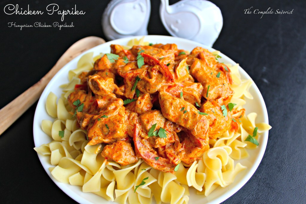Chicken Paprika - Hungarian Chicken Paprikash is chicken, onions, peppers in a sour cream sauce with a healthy dose of paprika ~ The Complete Savorist hicken Paprika - Hungarian Chicken Paprikash ~ The Complete Savorist