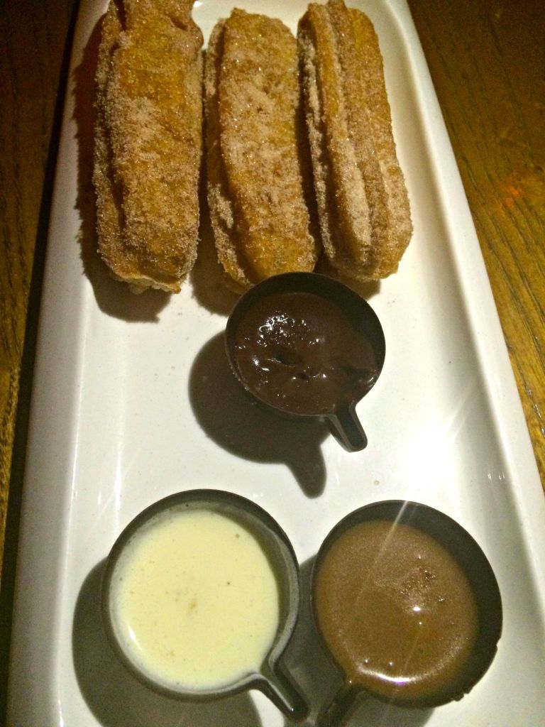 Churros and dipping sauces ~ The Complete Savorist