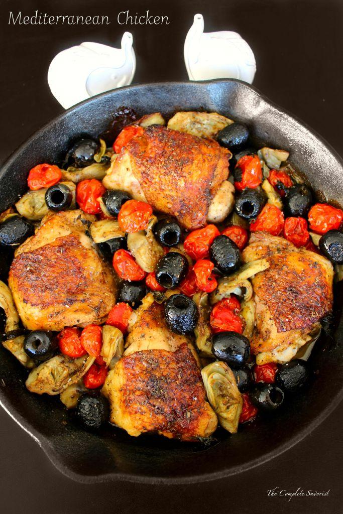 Mediterranean Chicken ~ The Complete Savorist #CalOlivesMedRecipe