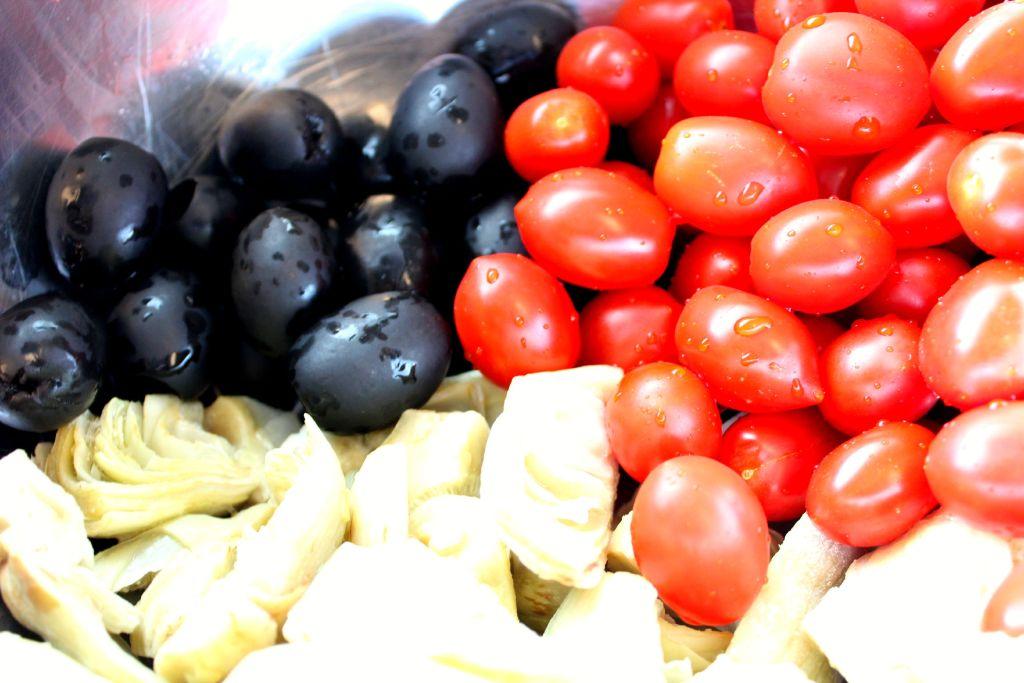 Vegetables for Mediterranean Chicken ~ The Complete Savorist #CalOlivesMedRecipe