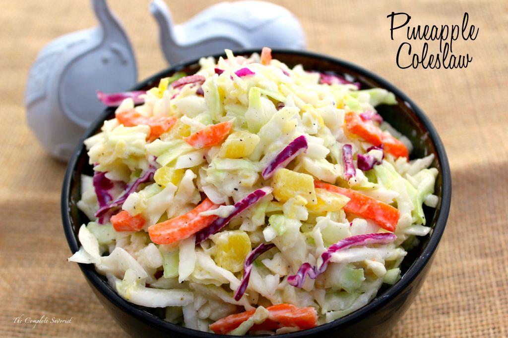 Pineapple Coleslaw ~ The Complete Savorist