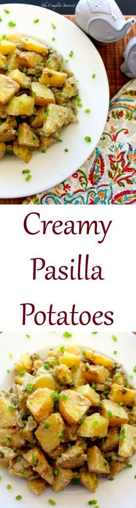 Creamy Pasilla Potatoes ~ The Complete Savorist