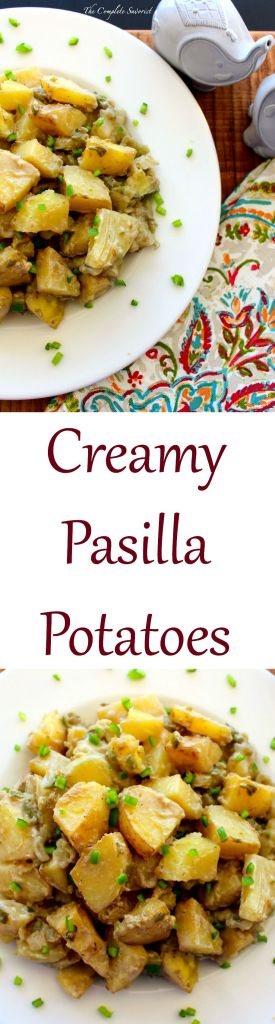 Creamy Pasilla Potatoes ~ The Complete Savorist