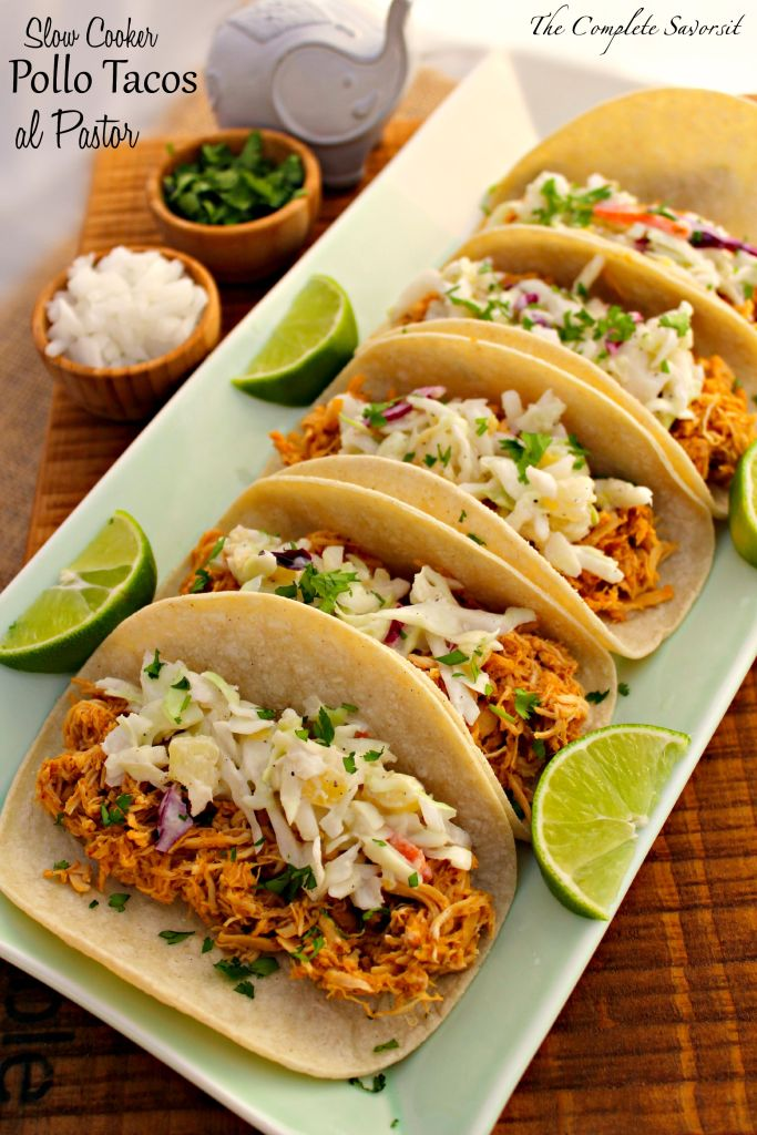 Slow Cooker Pollo Tacos al Pastor ~ The Complete Savorist