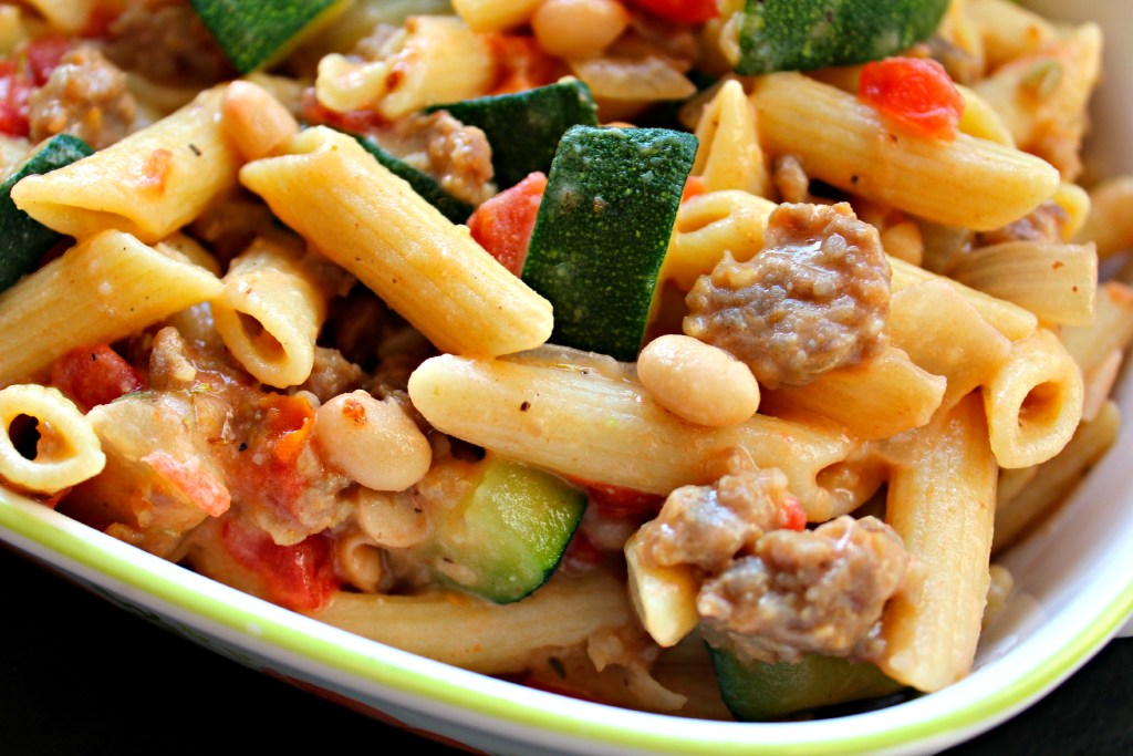 Sausage, Zucchini, Penne ~ The Complete Savorist