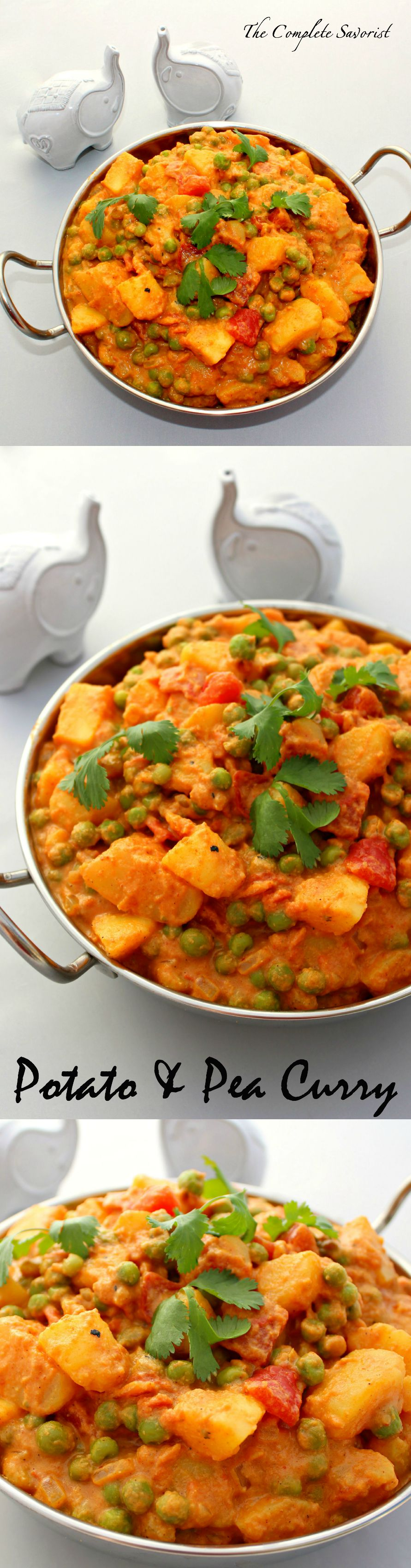 Potato and pea curry the complete savorist potato and pea curry fragrant indian spices enhance a creamy tomato sauce filled with luscious forumfinder Choice Image