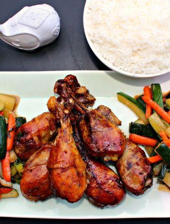 Slow Cooker Teriyaki Chicken Drummers and Vegetables ~ The Complete Savorist