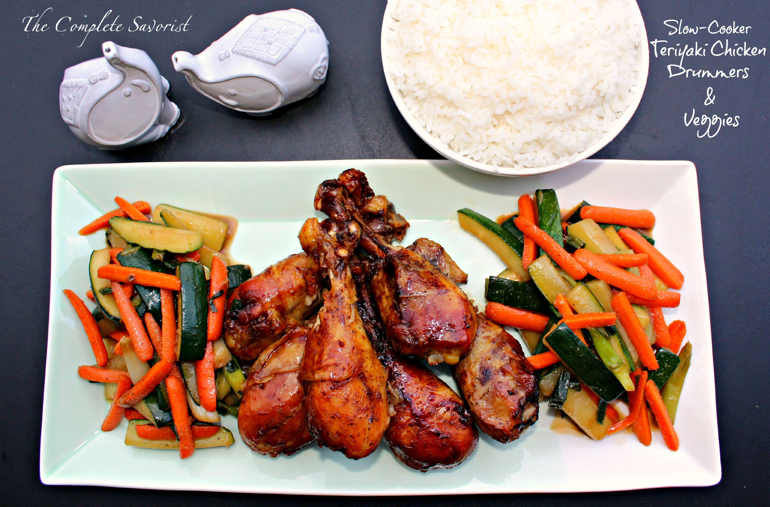 Slow cooker teriyaki chicken drummers and veggies the complete slow cooker teriyaki chicken drummers and vegetables the complete savorist forumfinder Choice Image