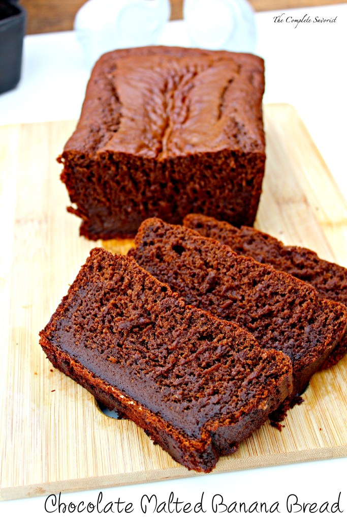 Chocolate Malted Banana Bread ~ Classic banana bread enhanced with chocolate and subtle malted notes ~ The Complete Savorist