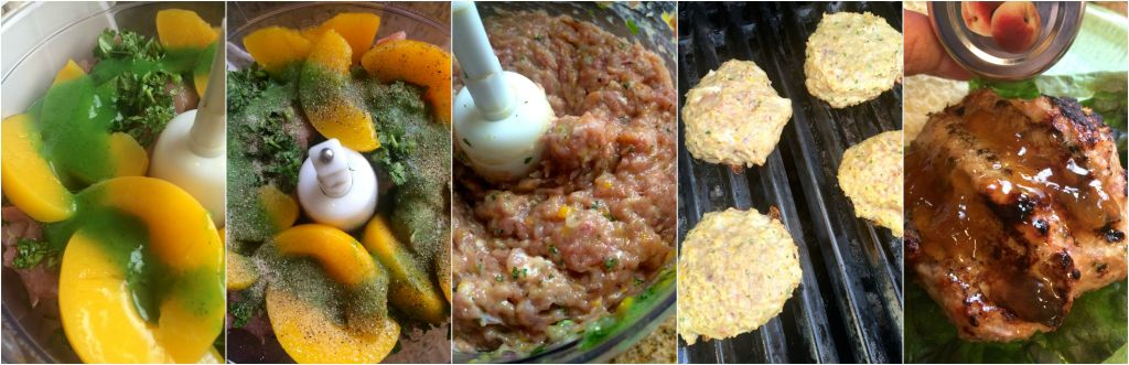 Habanero Peach Pork Burgers - Spicy habanero sauce paired with sweet, cooling peaches flavor this fantastic burger made from freshly ground pork ~ The Complete Savorist