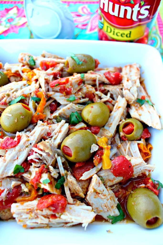 Latin Style Pork Roast ~ Tender Pork Loin Roast slow cooked with warming spices, onions, bell peppers, diced tomatoes, capers, and pimento stuffed green olives ~ The Complete Savorist #YesYouCAN ad