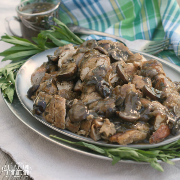 Turkey Tenderloins with Mushrooms - All Roads Lead to the Kitchen