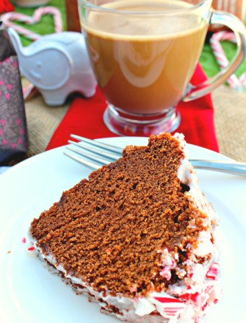Peppermint Mocha Coffee and Cake ~ Quick version of the classic peppermint mocha and a bundt cake to compliment any holiday meal with its rich chocolate flavor, subtle coffee notes, and peppermint ~ The Complete Savorist #MakeItMerrier #ad