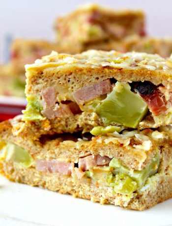 Ham & Broccoli Strata with Smoked Cheddar ~ Easy Breakfast Casserole with delicious ham and broccoli with smoked cheddar in a luscious egg batter. Easily made the night before and ready to be tossed in the oven while the morning festivities are under way, ready when all the gifts are open ~ The Complete Savorist #ForTheLoveOfHam ad