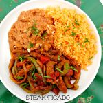 Steak Picado ~ Thin strips of seasoned steak stir fried with bell peppers, onions, and jalapeños in a spiced tomato sauce ~ The Complete Savorist #YesYouCan ad