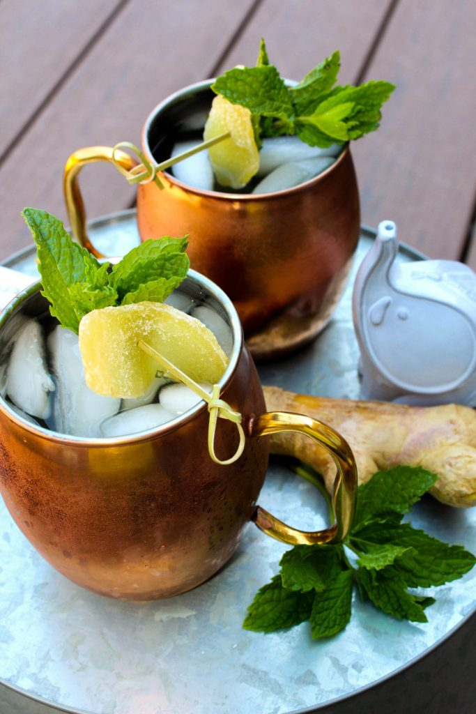 Giada De Laurentiis' Moscow Mule ~ A twist on the classic cocktail of ginger, vodka, and lime by infusing the vodka with mint as envisioned by celebrity chef Giada De Laurentiis~ The Complete Savorist