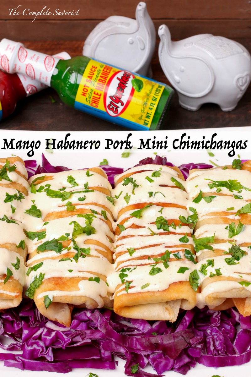 Mango Habanero Pork Mini Chimichangas