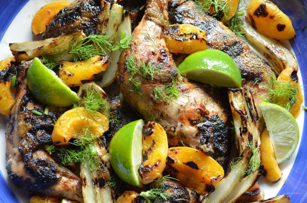 Grilled Chicken with Fennel and Apricots by She Loves Biscotti