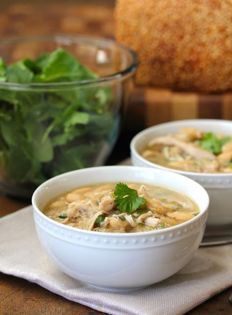 Slow Cooker White Bean and Chicken Chili by Karen's Kitchen Stories