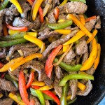 Chipotle London Broil Fajitas cooked and ready to serve