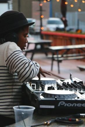 DJ Gayance @ la Place Publique. Photo by Lydia Anderson.