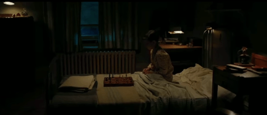 Fischer's gift was evident since he was in his childhood bedroom. Photo still from Pawn Sacrifice.