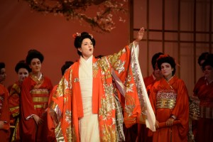 An example of some of the elaborate, colourful costume designs of the geishas in Racine's take on Puccini's Madama Butterfly.