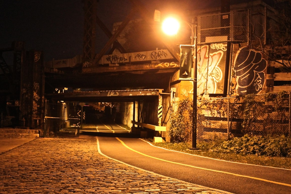 The Lachine Canal walkway, where many mysterious deaths have occurred. Photo by Katerina Gang.