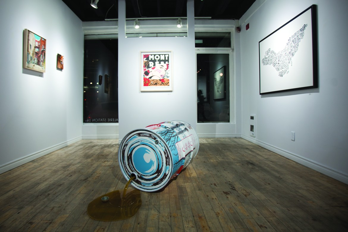 J'aime MTL features nine artists with distinct styles and takes on Montreal. Photo by Marie-Pierre Savard.
