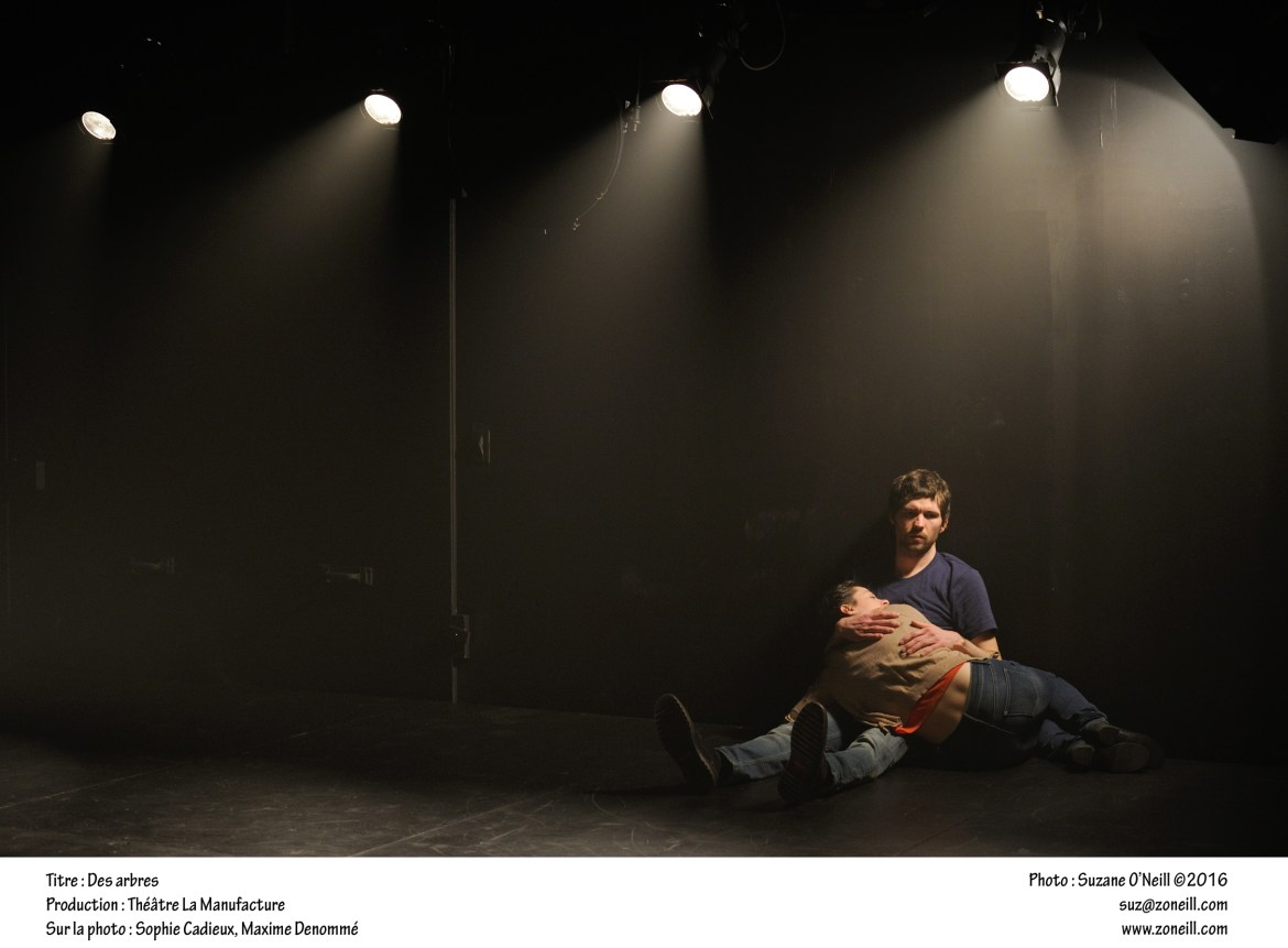 Lungs is a play by Duncan Macmillan that was translated into Des arbres by Benjamin Pradet. Photo by Suzane O'Neill.