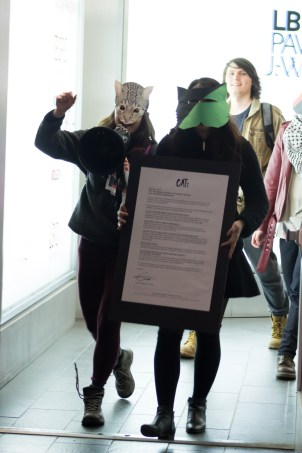 CATs delivered their letter to Alan Shepard's office. Photo by Melissa Martella.