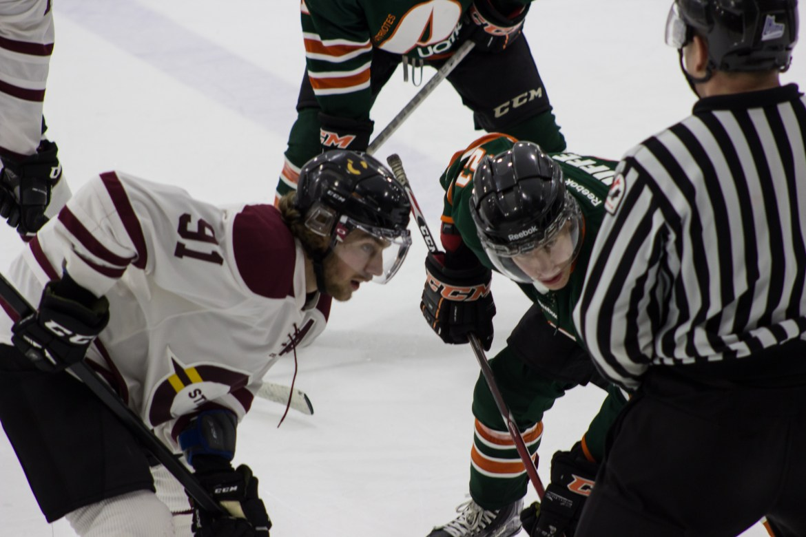 The Stingers will be without captain Olivier Hinse next season. Photo by Melissa Martella.