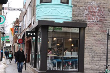 Pista is located on the corner of Beaubien Street and Saint-Vallier Street. Photo by Danielle Gasher