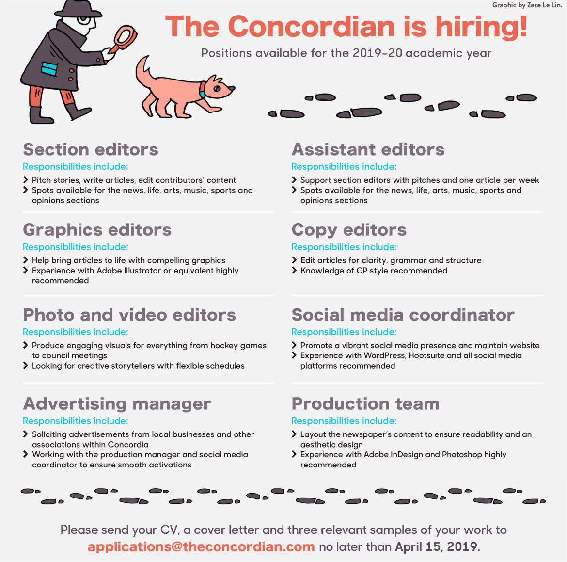 Work With Us - The Concordian