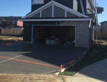 Poured Concrete Driveway