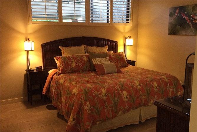Papakea Resort L303 master bedroom