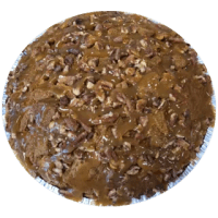 Conemade pumpkin sauce and ginger snaps blended with Conemade pumpkin ice cream then ginger snaps, buttered pecans, and premium caramel added on top. **Crust contains gluten. Egg-free. Not peanut-free.**