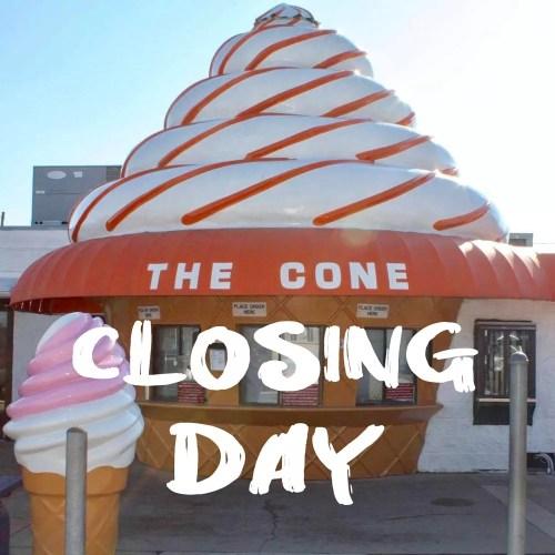 TheConeClosingDay