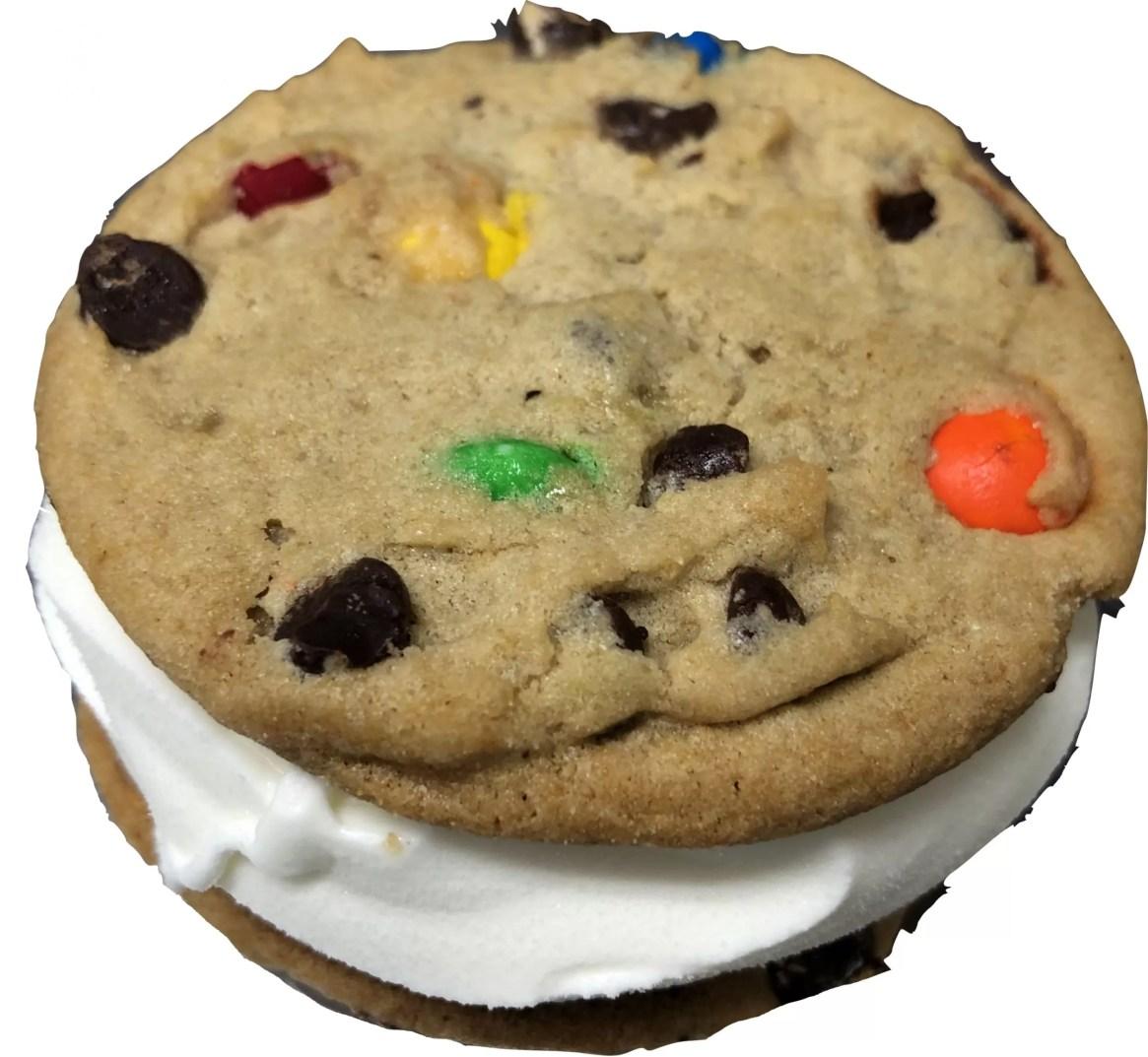 JPG M&M Chocolate Chunk Cookie Sandwich